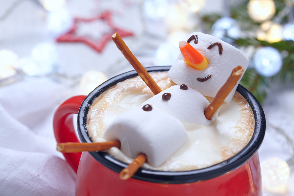 Elena Shashkina, snowman, hot chocolate, relax, holiday